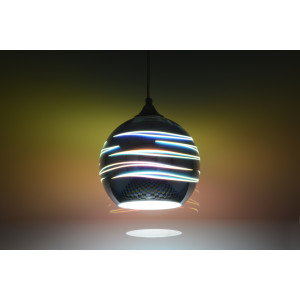 "MARIO-150  ""Hit-3D"" chrom lampa zwis E27-1*40W"