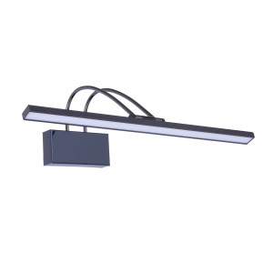 VINCENT-650BC czarny chrom lampa kinkiet LED lustr