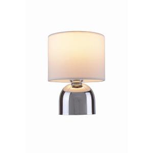 ALBA biały+chrom lampa stołowa (touch)