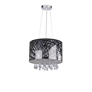 ARIADNA chrom cristal classic lampa zwis 3xE27