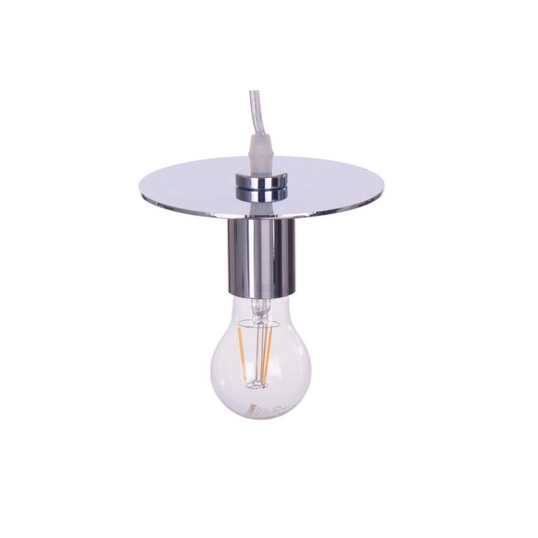 AURIGA modern loft chrom,  lampa zwis 1xE27
