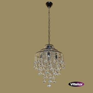 CARACAS 400 satynowy nikiel lampa zwis 4*E14