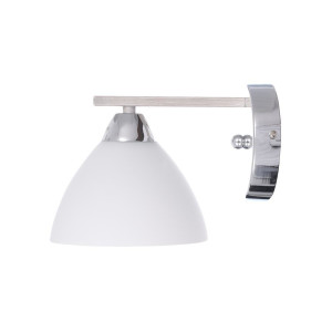 CHLOE-1 chrom+biały granit lampa ścienna