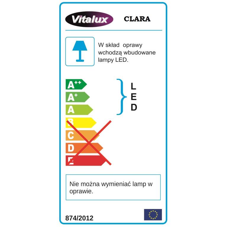 CLARA LED zwis pojedyńczy klosz szkło przezrocz