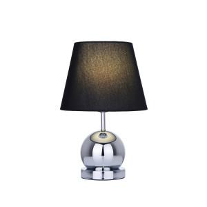CLETO-B czarny+chrom lampa stołowa (touch)