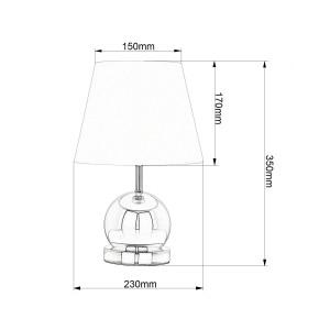 CLETO-WW biały+chrom lampa stołowa