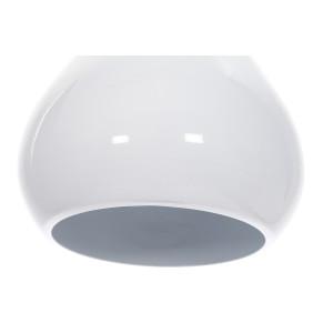 CORRADO D lampa zwis pojedyńczy klosz metal biały