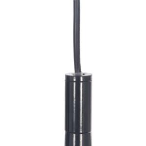 CORRADO M lampa zwis pojedyńczy klosz metal czarny