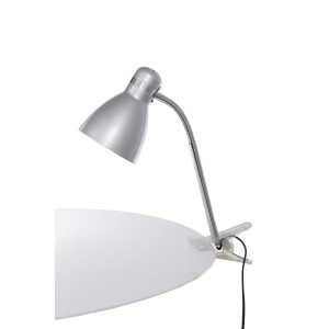 CSL-042 srebrna lampka biurkowa klips