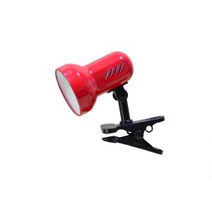 CSL-408 czerwona lampka biurkowa klips