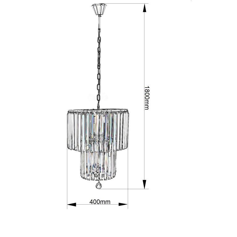 DAFNE 400 chrom lampa zwis 4*E14