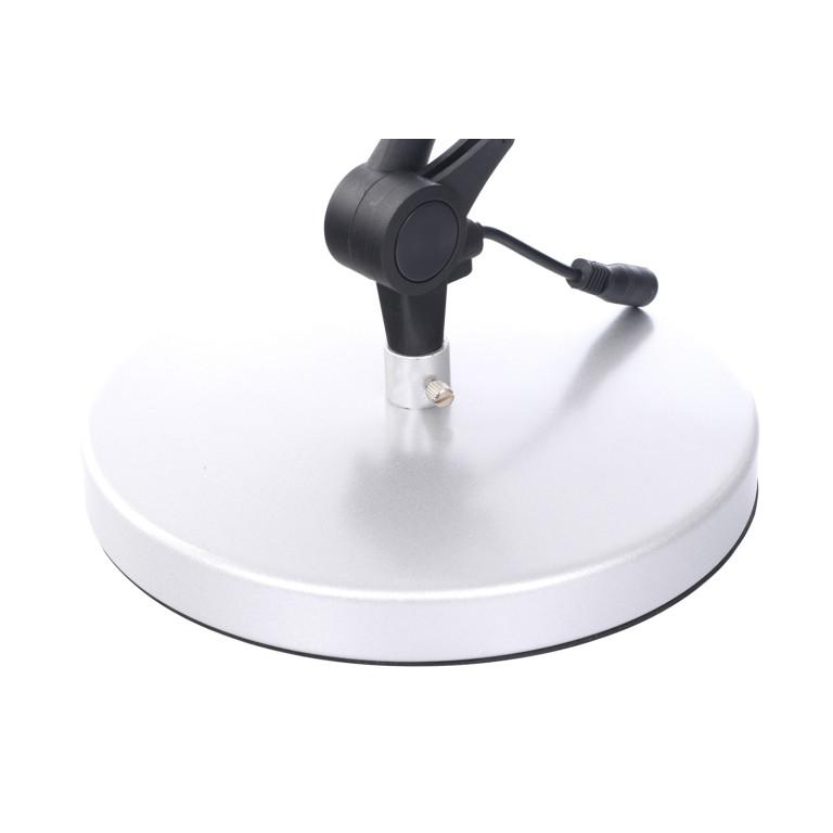 DEL-1042 LED 3W 6500K srebrna lampa biurkowa