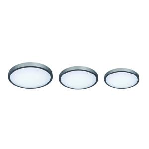 DOMINICA-42 plafon srebrno-szary-biały lampa 3xE27