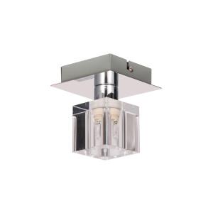 DORA-1 chrom lampa sufitowa plafon klosz szklany