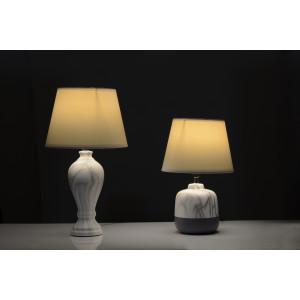 IDRA – biała, klosz biały, lampa stołowa E14