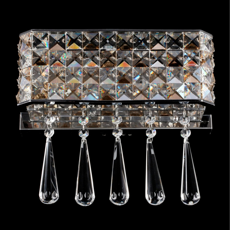 LIVERPOOL kryształ kinkiet satynowy chrom lampa