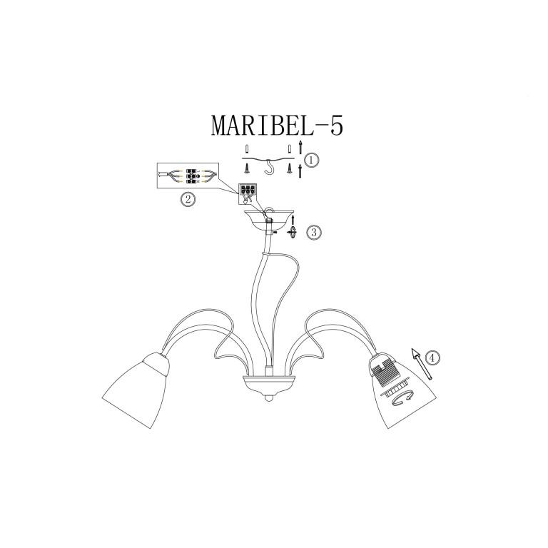MARIBEL-5 chrom lampa sufit żyrandol