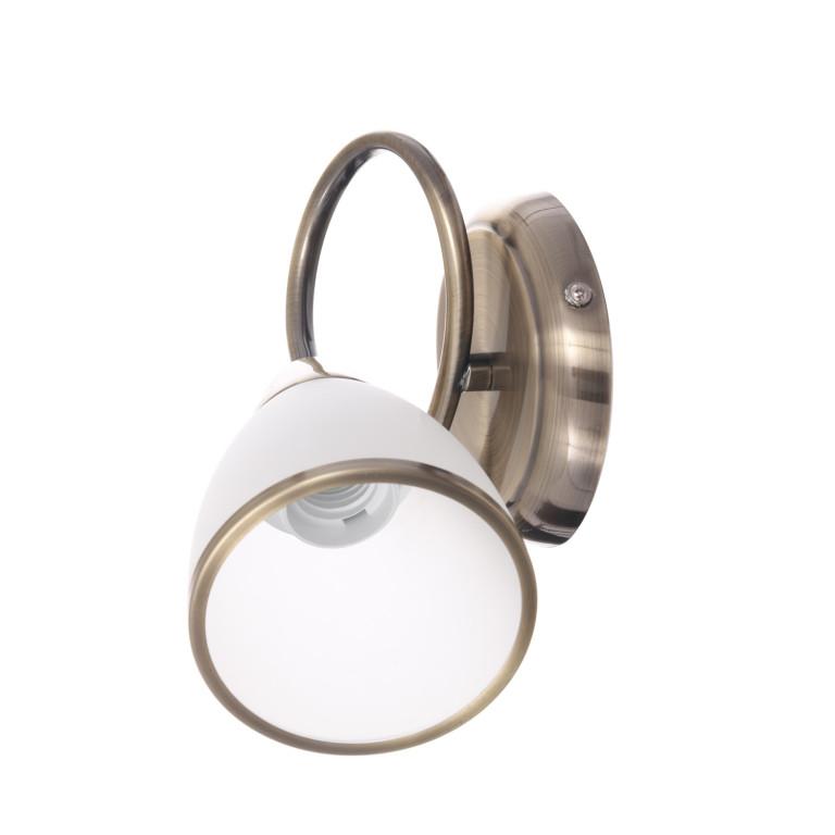NELA-1 antyczny mosiądz lampa ścienna kinkiet