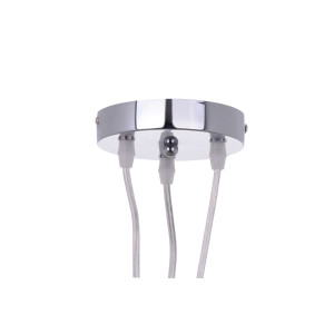 NEVA-3 chrom kula lampa zwis 3xE27