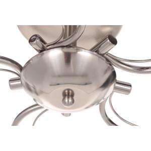 NILA-5 satynowy nikiel lampa  sufit żyrandol