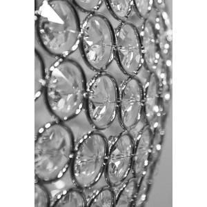 NOEMI 400 LED 24W kryształ kula chrom zwis A+