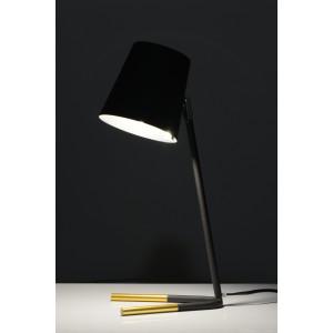 PEPPO Hit design!czarny mat gold lampa stołowa E27