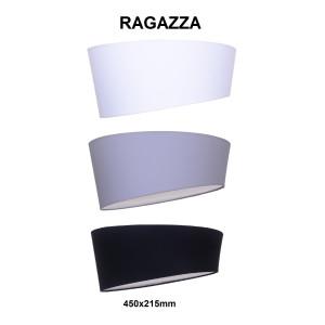 RAGAZZA-450 black abażur plafon