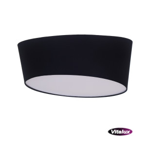 RAGAZZA-450 black plafon abażur LED