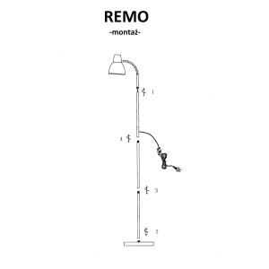 REMO loft czarny lampa podłogowa E27 40W