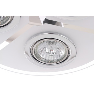 SANTIAGO-3 lampa plafon LED GU10 3x6W b.ciepła
