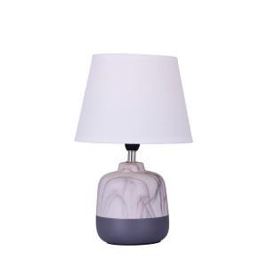 SINOPE szary,biały, lampa stołowa, ceramika E14