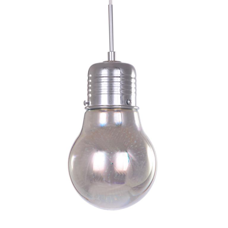"SIRIUS 1  chrom lampa ""żarówka"" efekt 3D zwis E27"