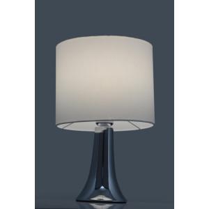 VICKY-W biały+chrom lampa stołowa E27-1*40W