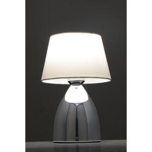 VIDAL biały+chrom lampa stołowa E27 (touch)