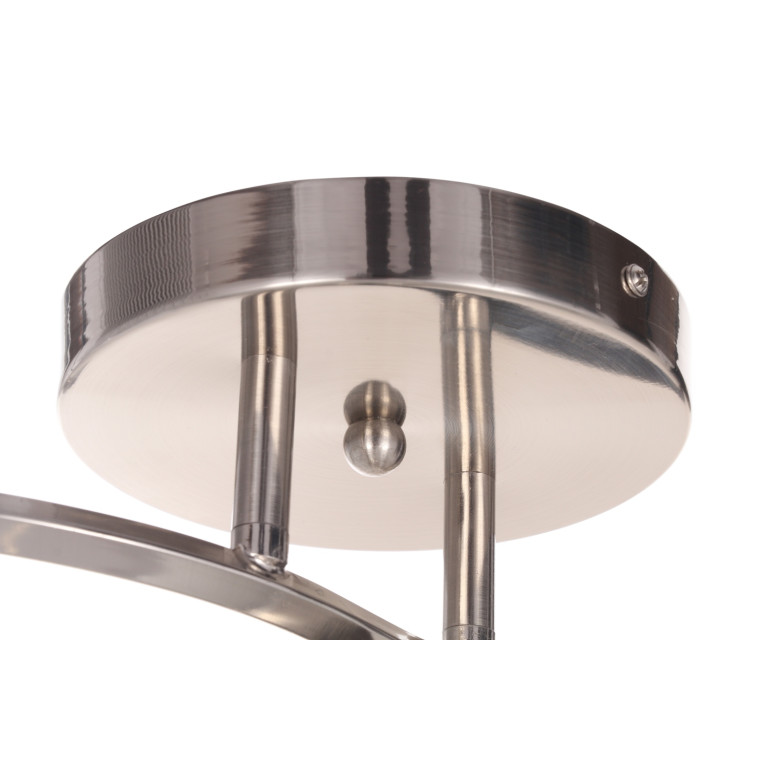 ZOE-3 satynowy nikiel lampa  sufit żyrandol