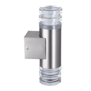 BEN-K2 LED inox akryl kinkiet podwójny 2,4W IP44