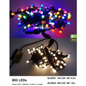 BLWZ02-2 l.choink 200LED BIG LED FLASH b.zimny gn.