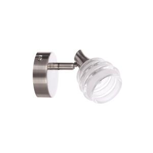 BOLTON-1  satynowy nikiel lampa ścienna kinkiet