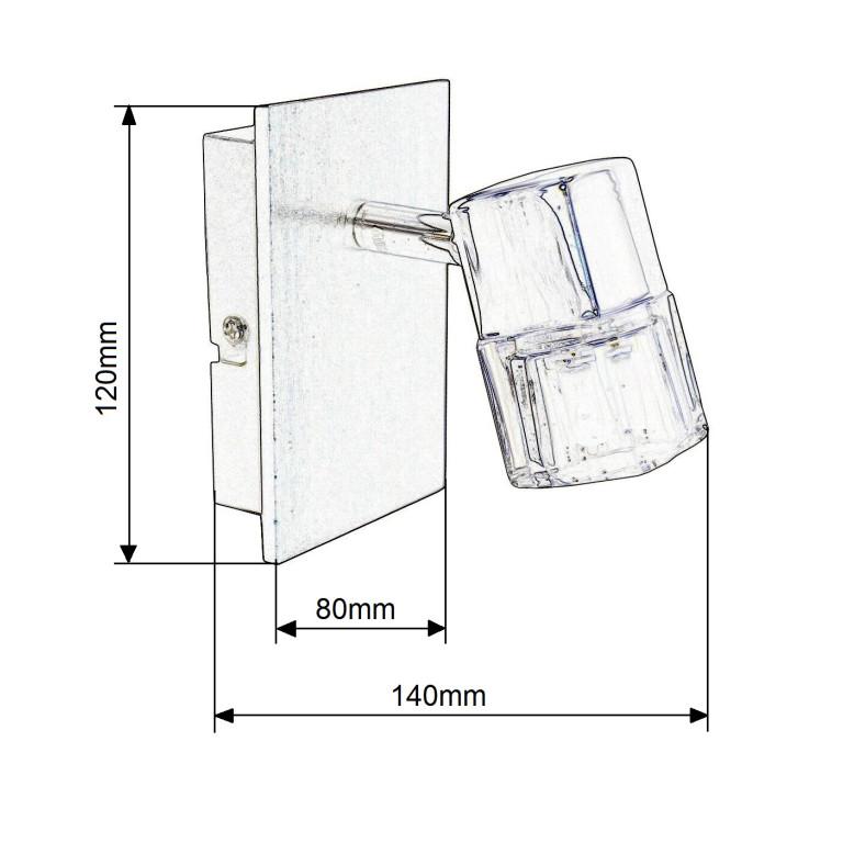 BRAD-1 chrom lampa ścienna kinkiet spot