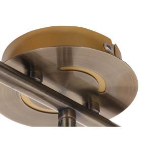 BRADFORD-3 antyczny mosiądz lampa sufit spot