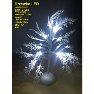 D-5 Drzewko LED biały ciepły 3xAA