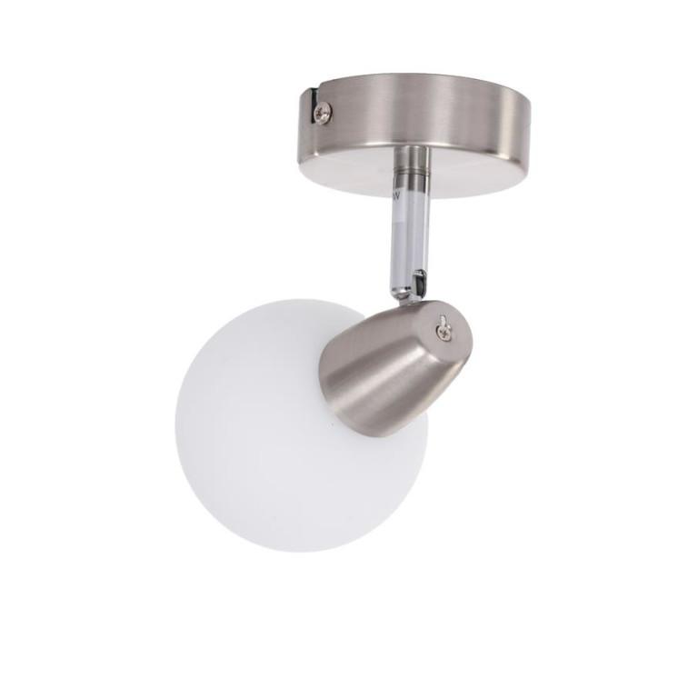 DAVID-1  satynowy nikiel lampa ścienna spot E14