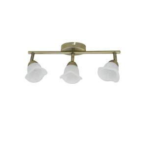 DRAMMEN-3 spot sufit klasyk antyczny mosiądz lampa