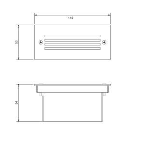 ERYK LED inox ogród ściana pod tynk 1,2W IP44 A+