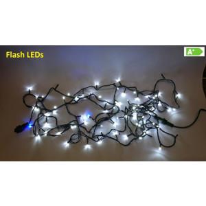 FL01-2 l.choinkowe zewn.100 LED c.biały FLASH gn.