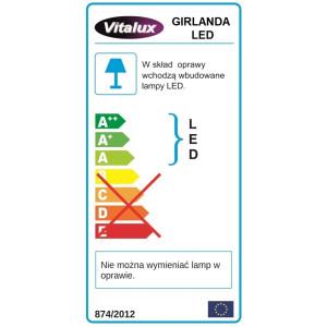 GL02-3 girlanda/sople zewn.200LED z.biały gn+pr