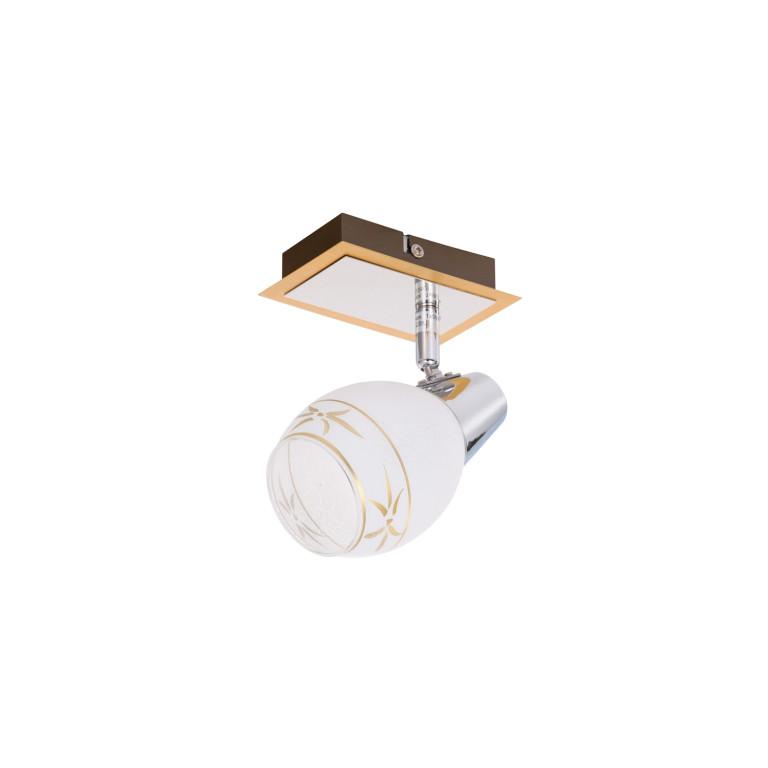 IWAN-1 kinkiet ściana gold/chrom lampa klosz szkło
