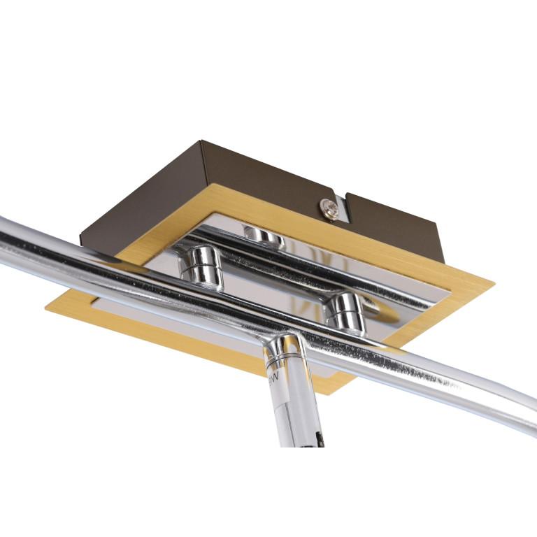 IWAN-3 spot kinkiet sufitowy gold/chrom lampa