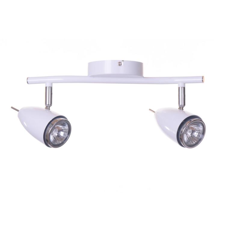 LIBERO-2 spot kinkiet sufit biała lampa 2xGU10