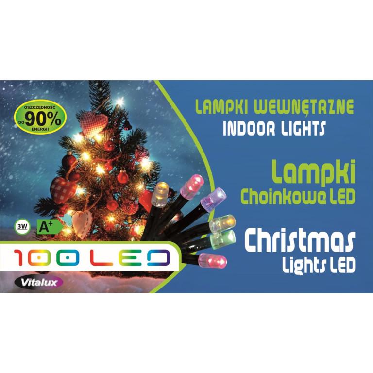 LM001-2 l.choinkowe wew.100LED z.biały gniazdo+pro